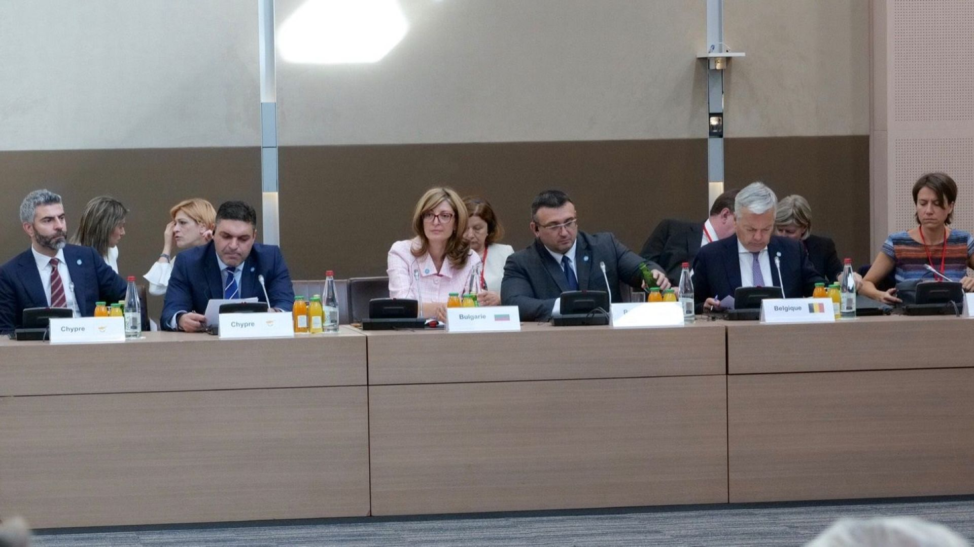 Българските министри на външните работи и на вътрешните работи Екатерина