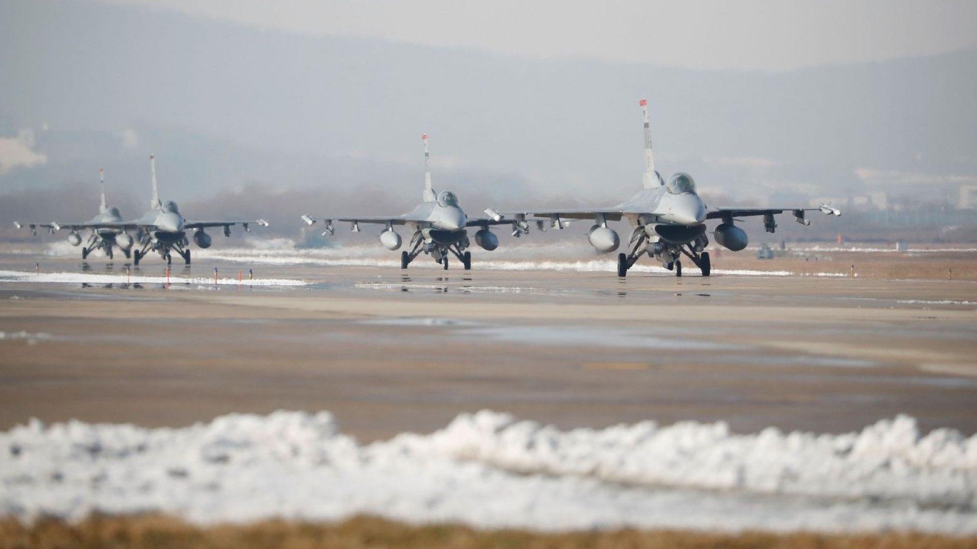 МО преведе всички 1,2 млрд. долара за покупката на самолетите F-16