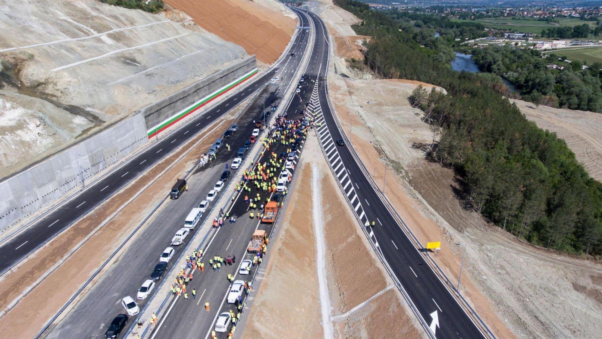 """Затвориха за ремонт участък от магистрала """"Струма"""", пуснат предсрочно"""