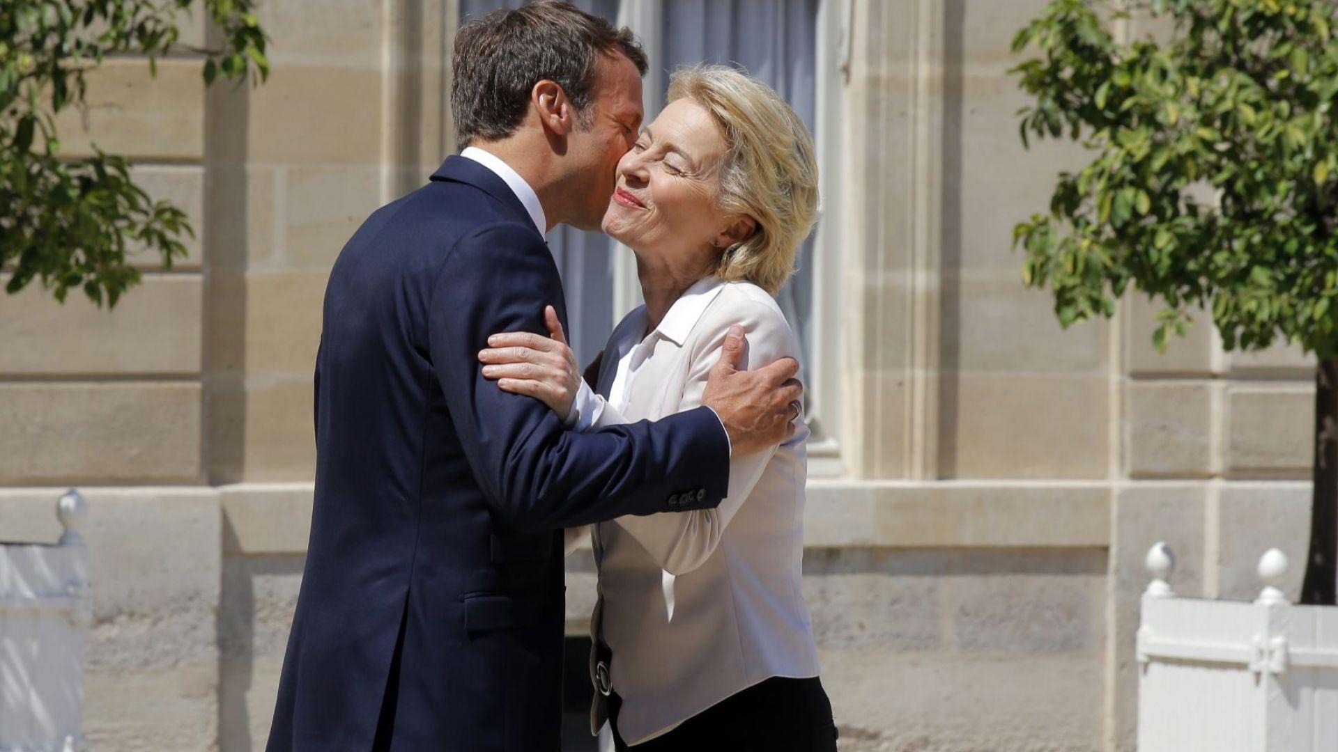 Френският президент Еманюел Макрон се срещна днес в Елисейския дворец