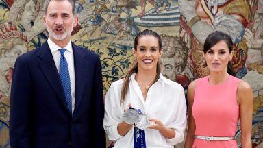 Летисия извади роклята от посещението в Белия дом за аудиенция в двореца Сарсуела