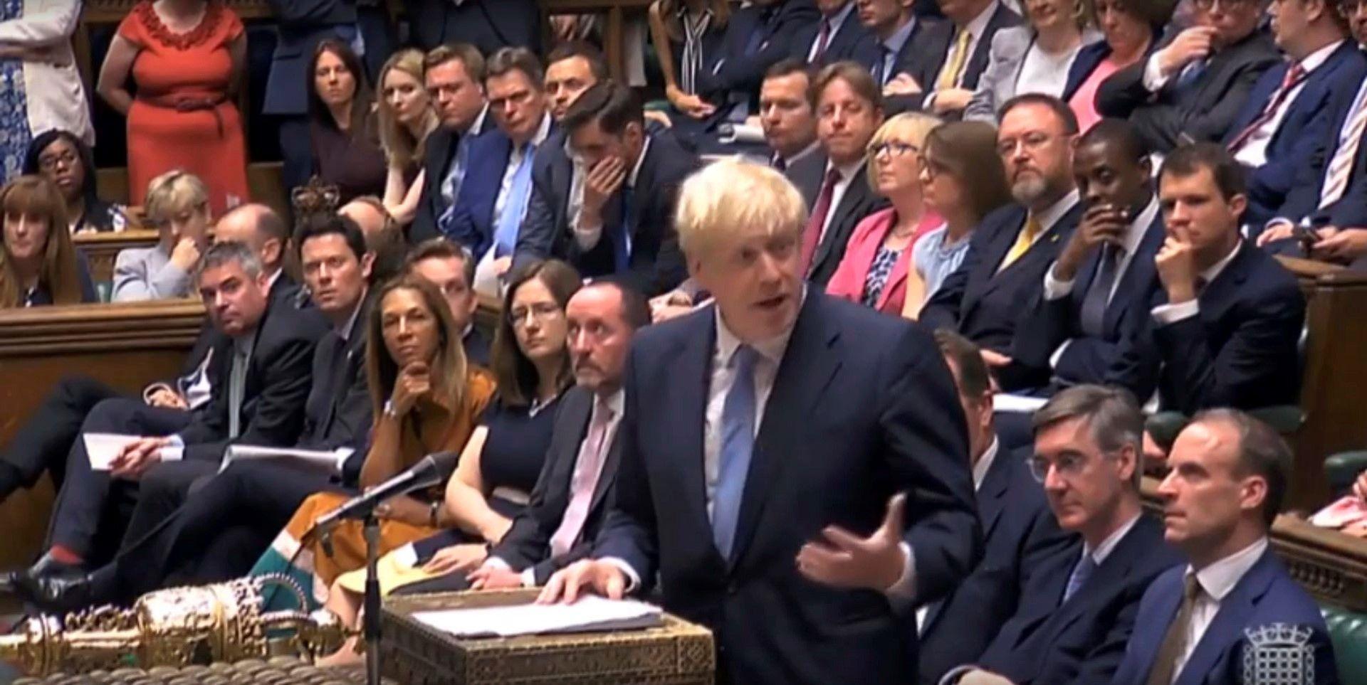 Борис Джонсън изнася първата си реч като премиер в британския парламент