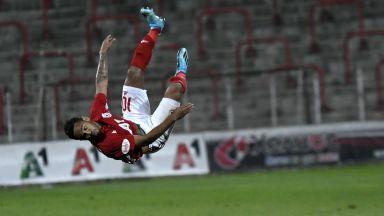 Дунав - ЦСКА 1:1, пореден гол на Евандро (на живо)