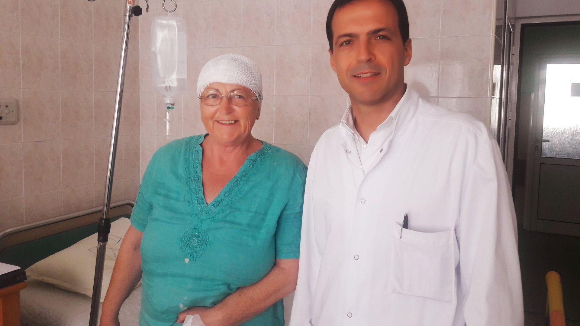 """В """"Пирогов"""" спасиха българка с тумор в мозъка, в Англия й дали час за след 1 г."""