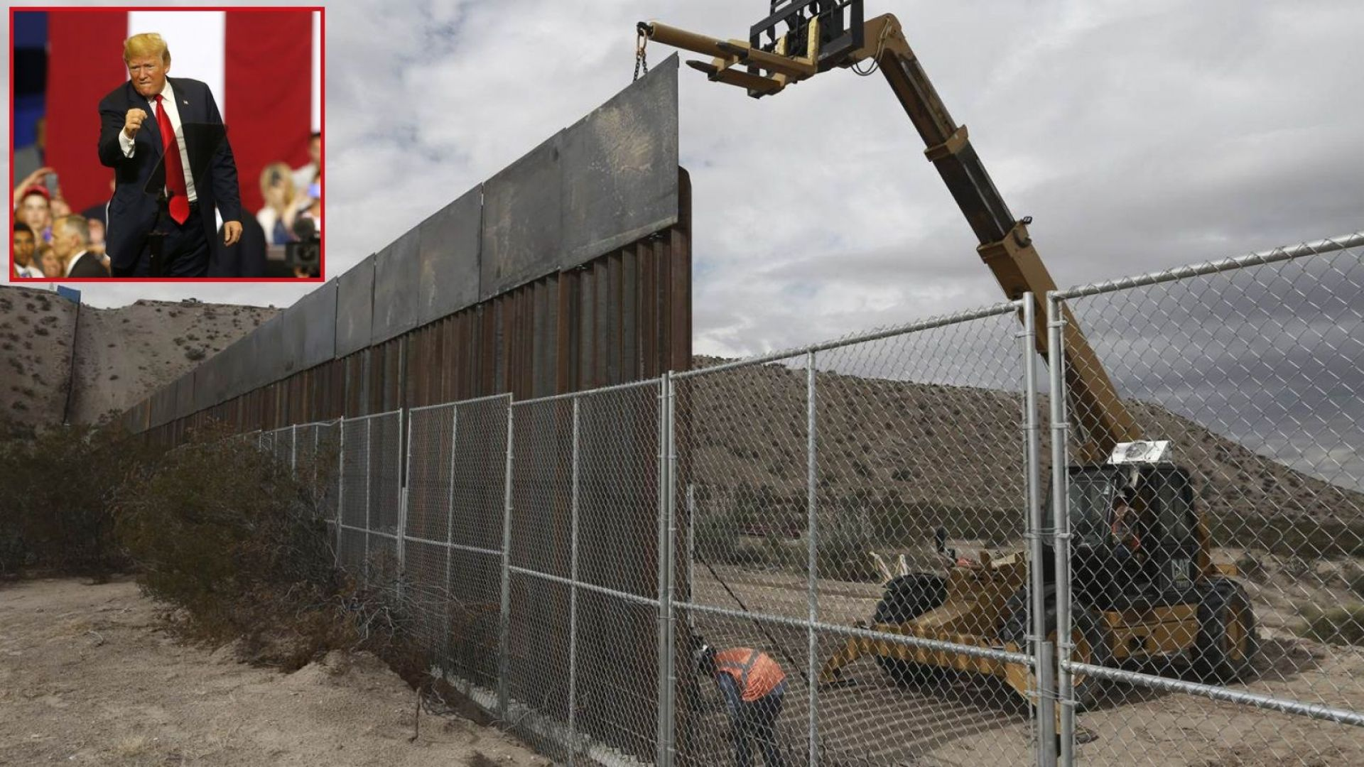 Върховният съд разреши на Доналд Тръмп да вдигне стената с Мексико