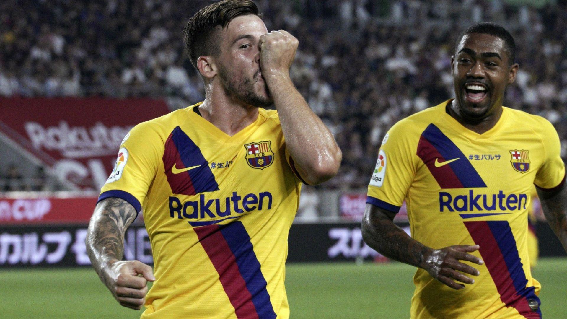 Младок блесна за Барселона срещу Иниеста и компания