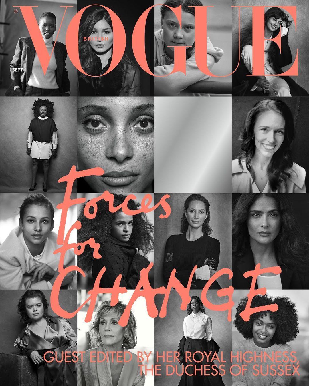 Корицата на Vogue - броят, на който Меган е гост-редактор