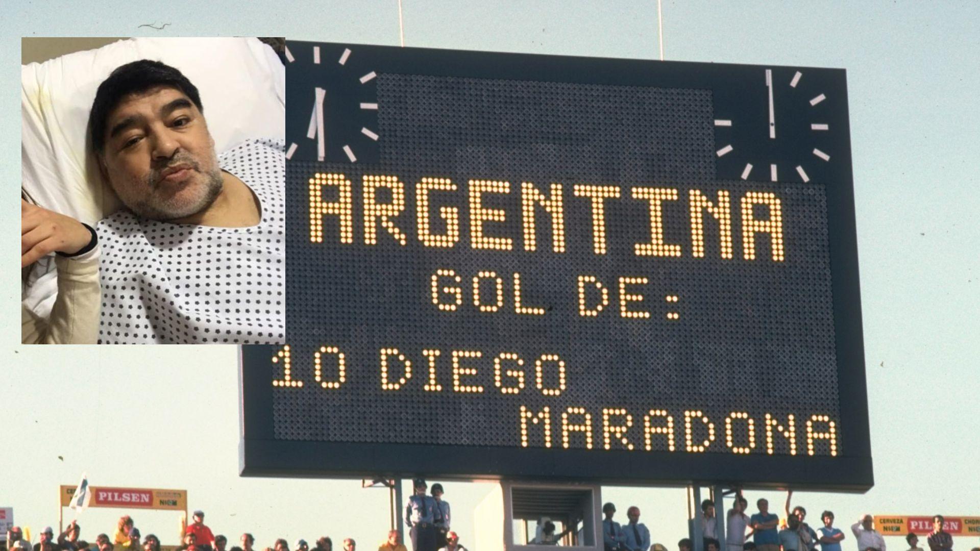 Марадона бе опериран, пусна видео от болницата