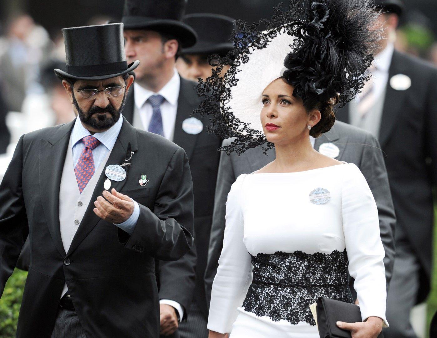 Принцеса Хая и съпругът й емирът на Дубай Мохамед бин Рашид Ал Мактум, 2014 г.