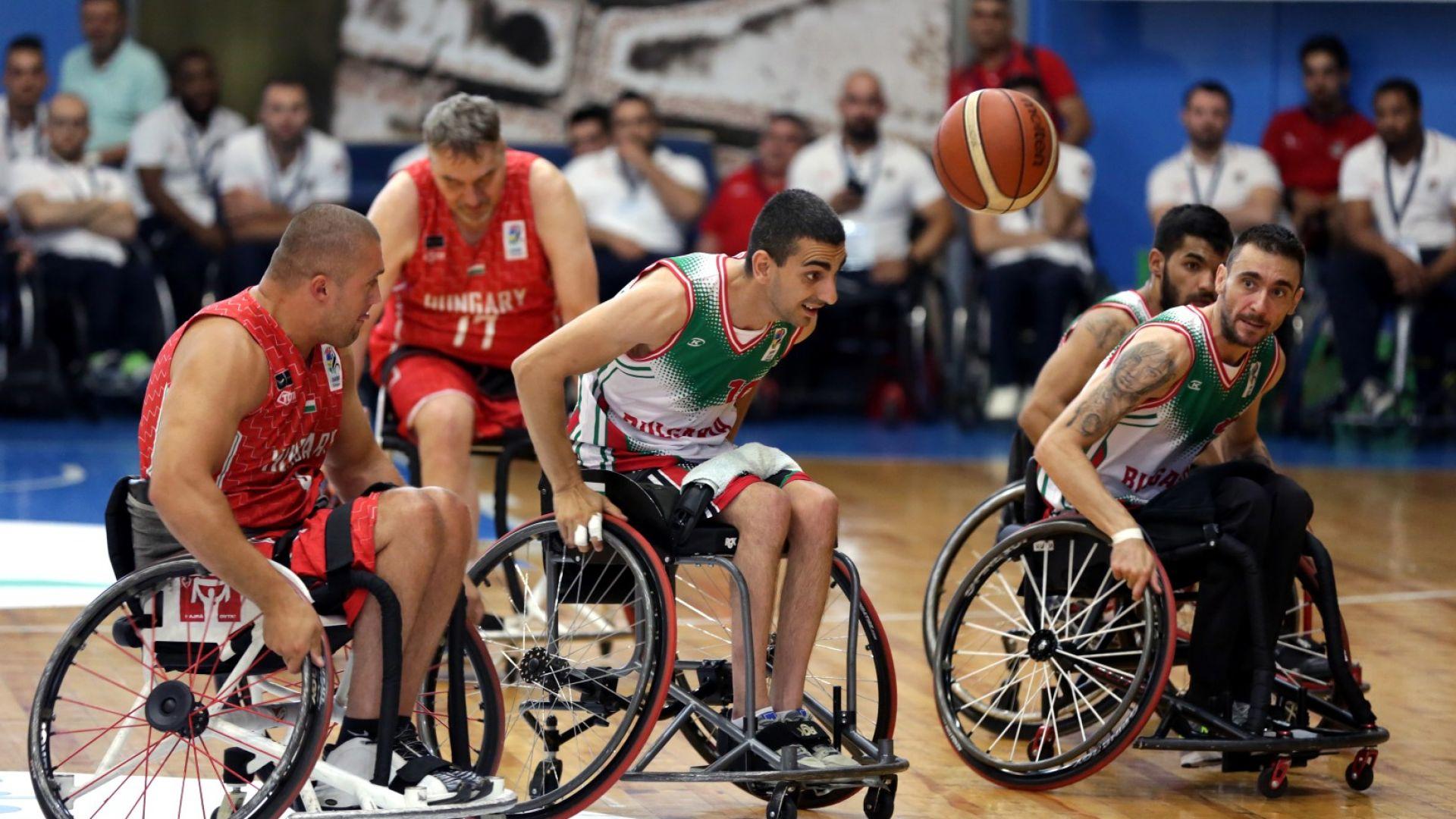 България записа победа при дебюта си на Европейското по баскетбол на колички