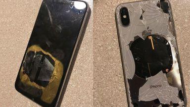 iPhone се взриви в ръцете на майстор (видео)