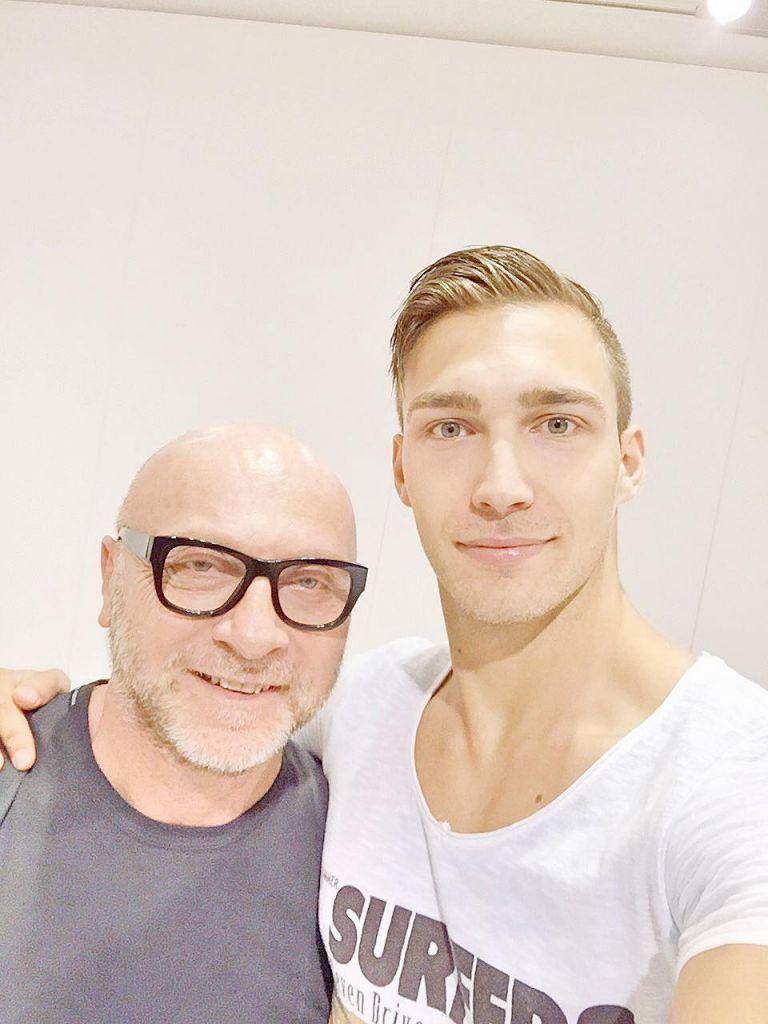 Даниел с Доменико Долче