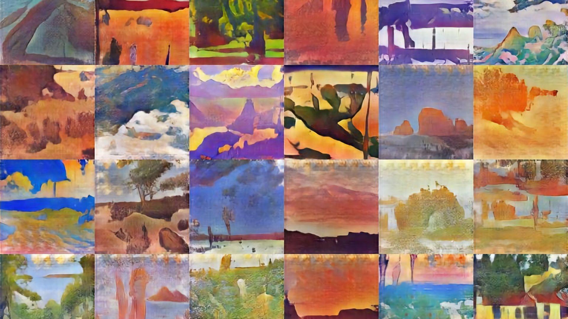 Част от живописните пейзажи, нарисувани от изкуствения интелект