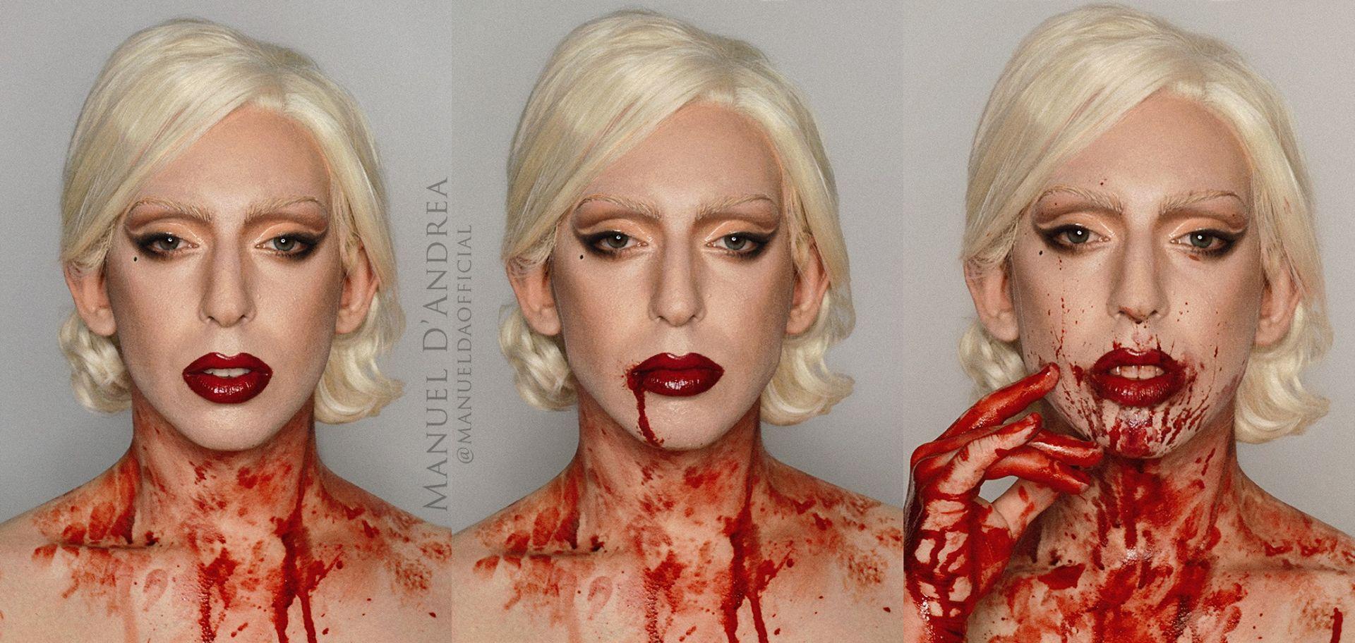 """Manuel D""""Andrea като Лейди Гага"""