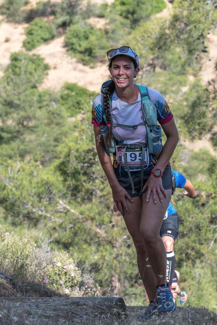 12 май 2019 г., британският астрофизик Натали Кристофър, на 34 години, се състезава в надпреварата в планината Атсас в Кипър