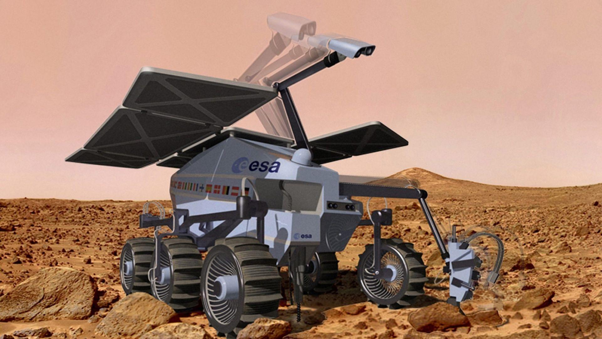 """Макет на """"ЕкзоМарс-2020 се разби при парашутен тест"""