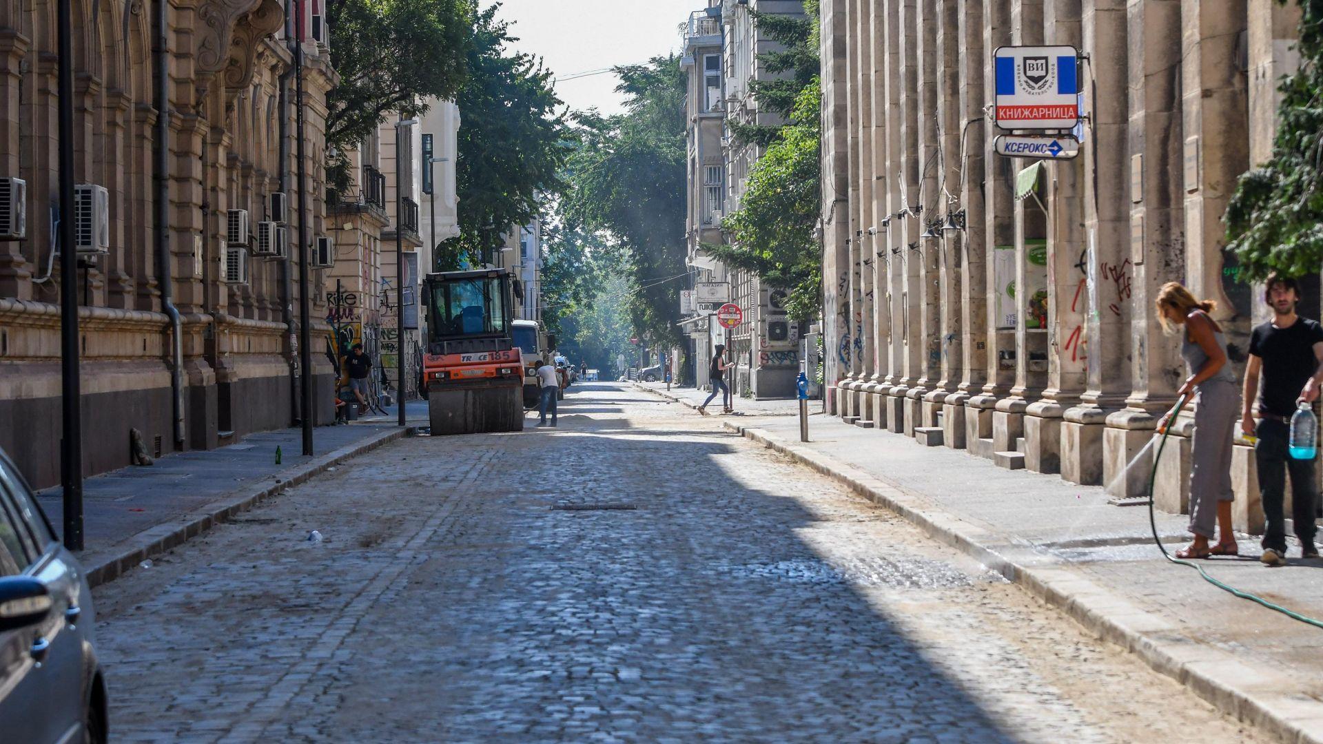 След близо 14-месечен ремонт отвориха централна софийска улица (снимки)