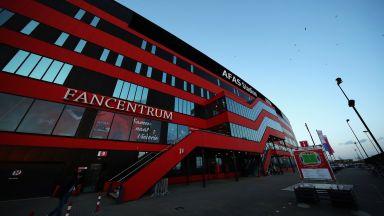 Силният вятър отнесе козирката на стадион в Холандия