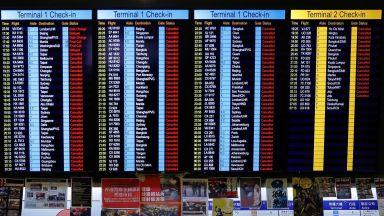 Всички днешни полети в Хонконг бяха отменени заради демонстрация на местното летище