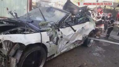 Румънец прегази дете, бременната му майка и бабата, докато предава на живо как шофира