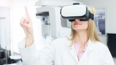 Шлем за виртуална реалност при раждане като алтернативно обезболяващо