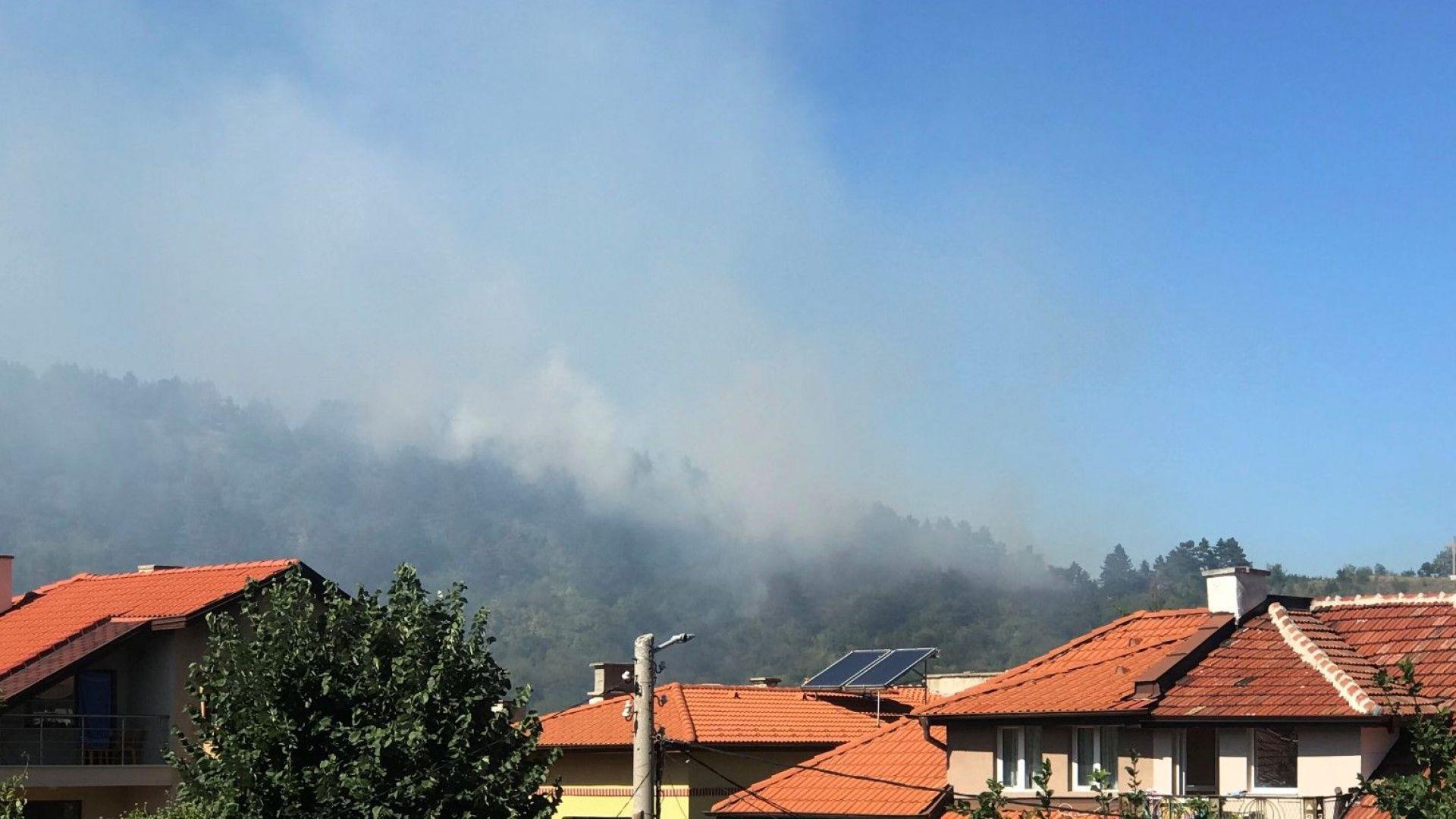 """Затвориха АМ """"Струма"""" край Дупница заради пожар"""