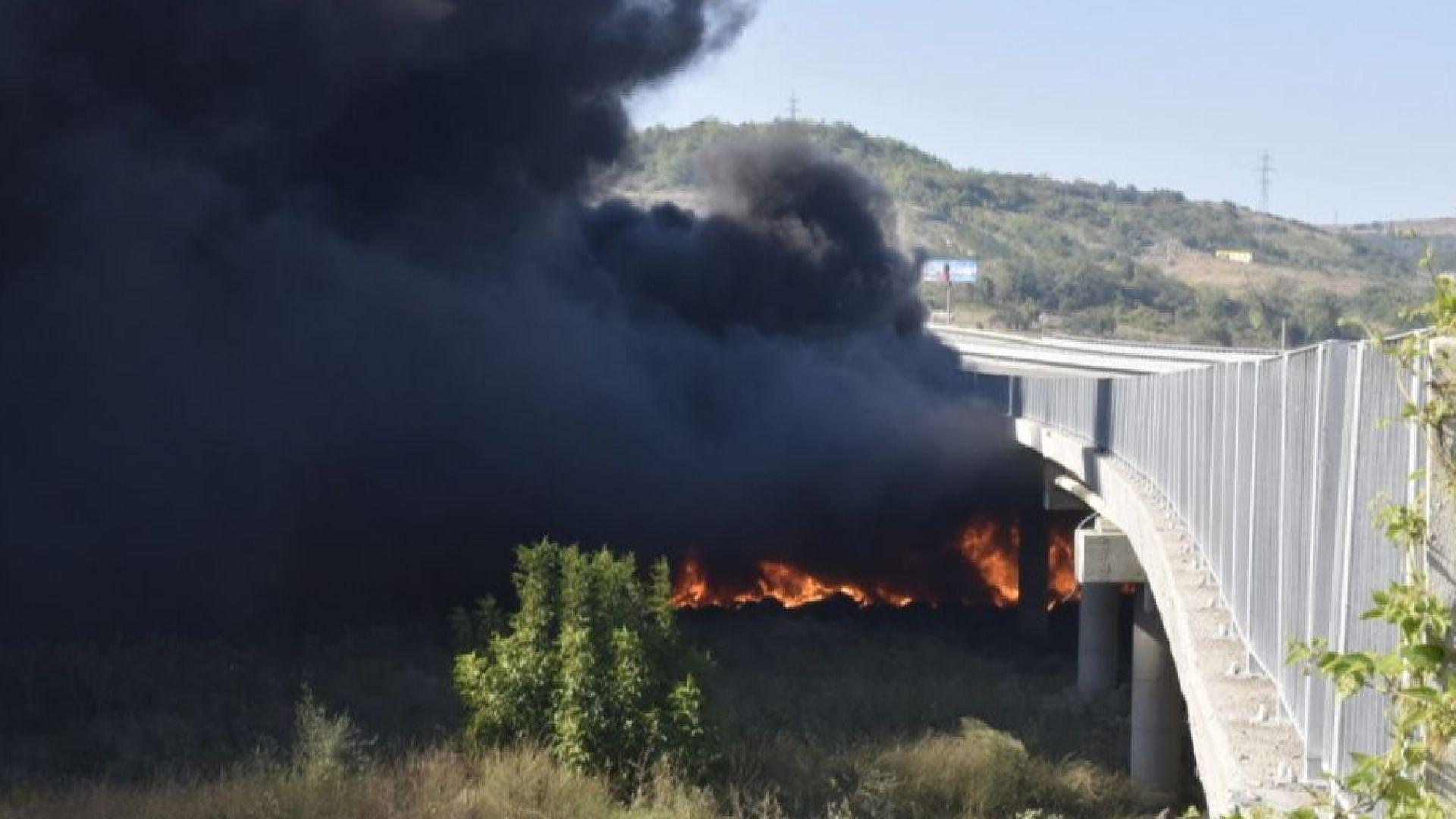Дупница частично бедствено заради пожара на АМ Струма. Усложена е