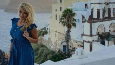 Ева Веселинова с романтична ваканция на Санторини