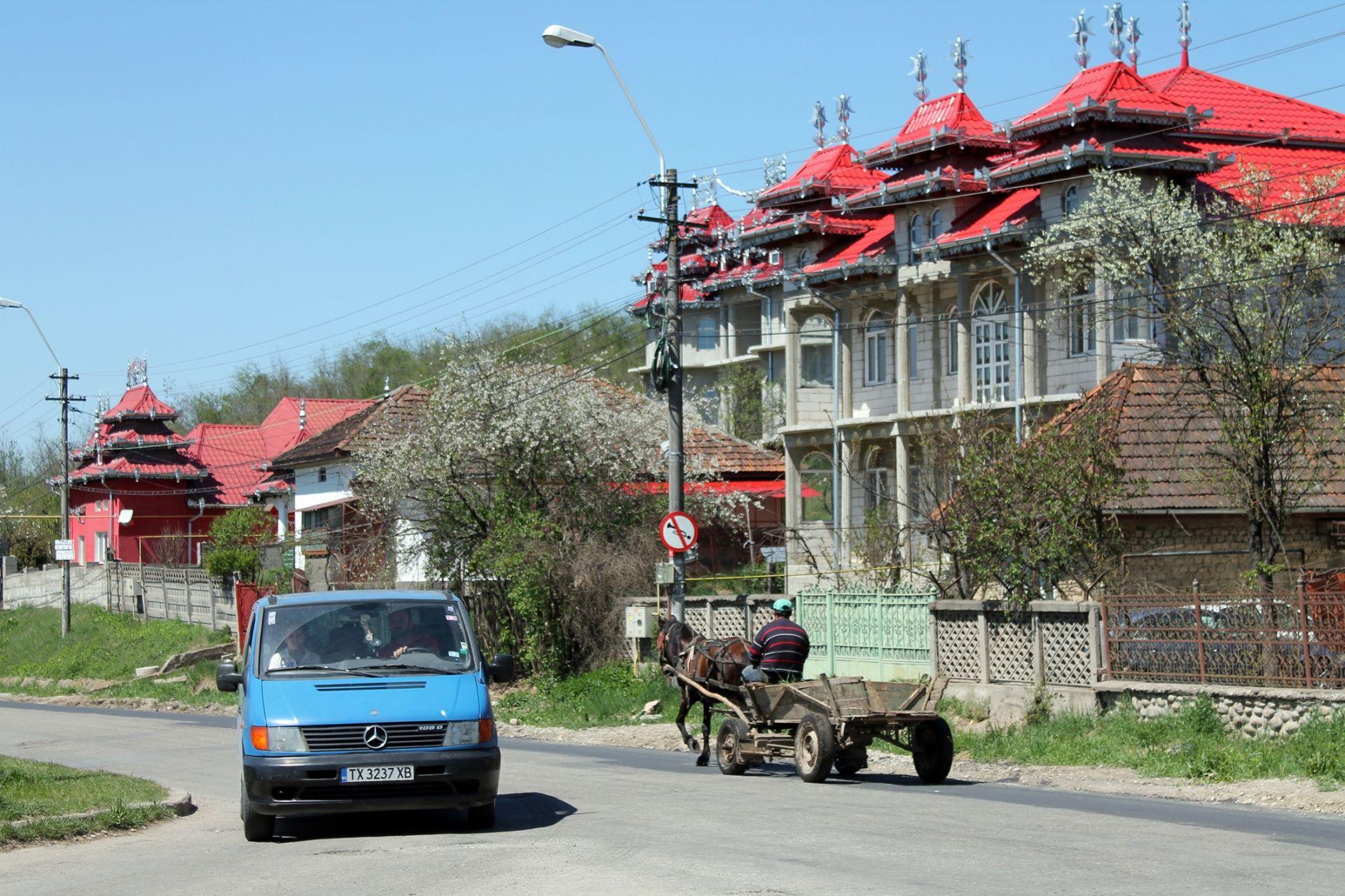 Цигански къщи в предградие на Хунедоара
