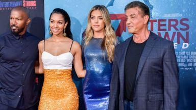Силвестър Сталоун и Джейми Фокс до дъщерите си на дебюта им в киното