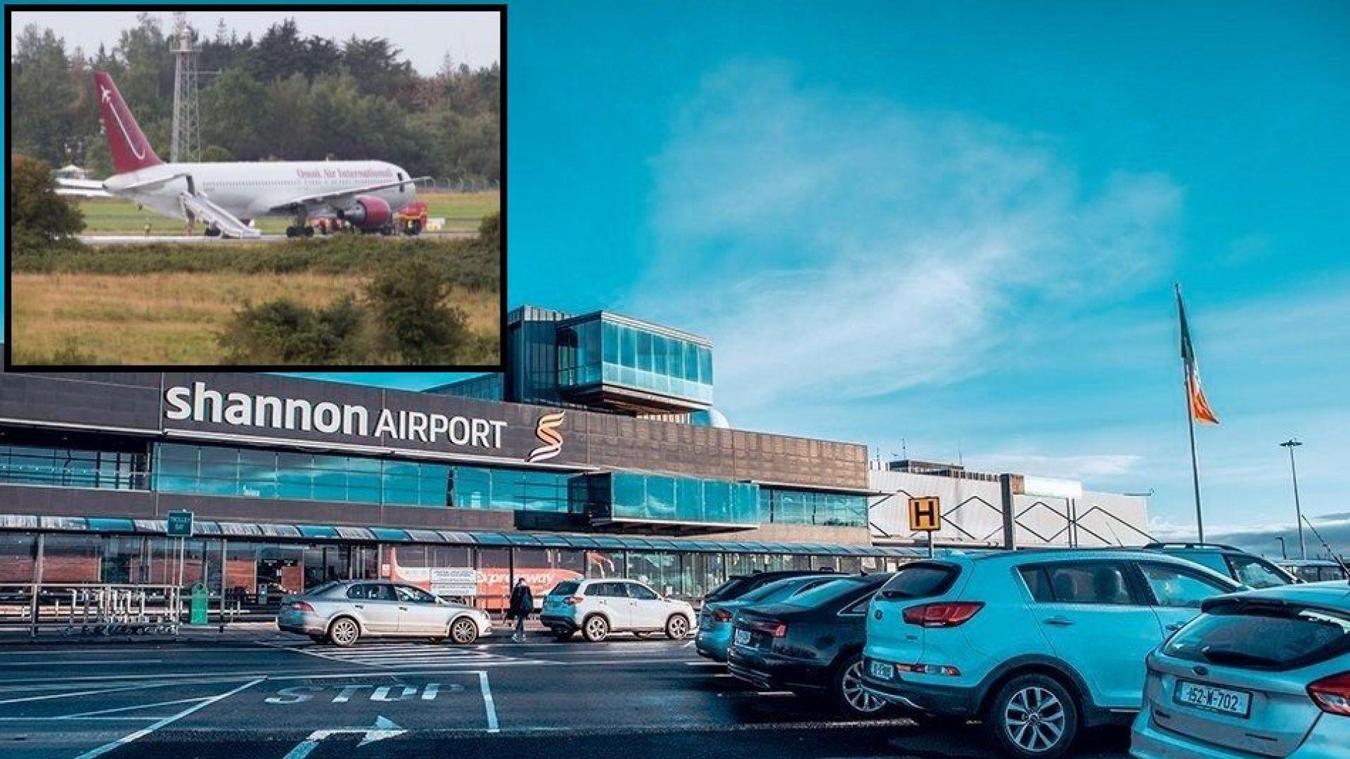 Самолет, ползван за превоз на US военни, се запали на ирландско летище