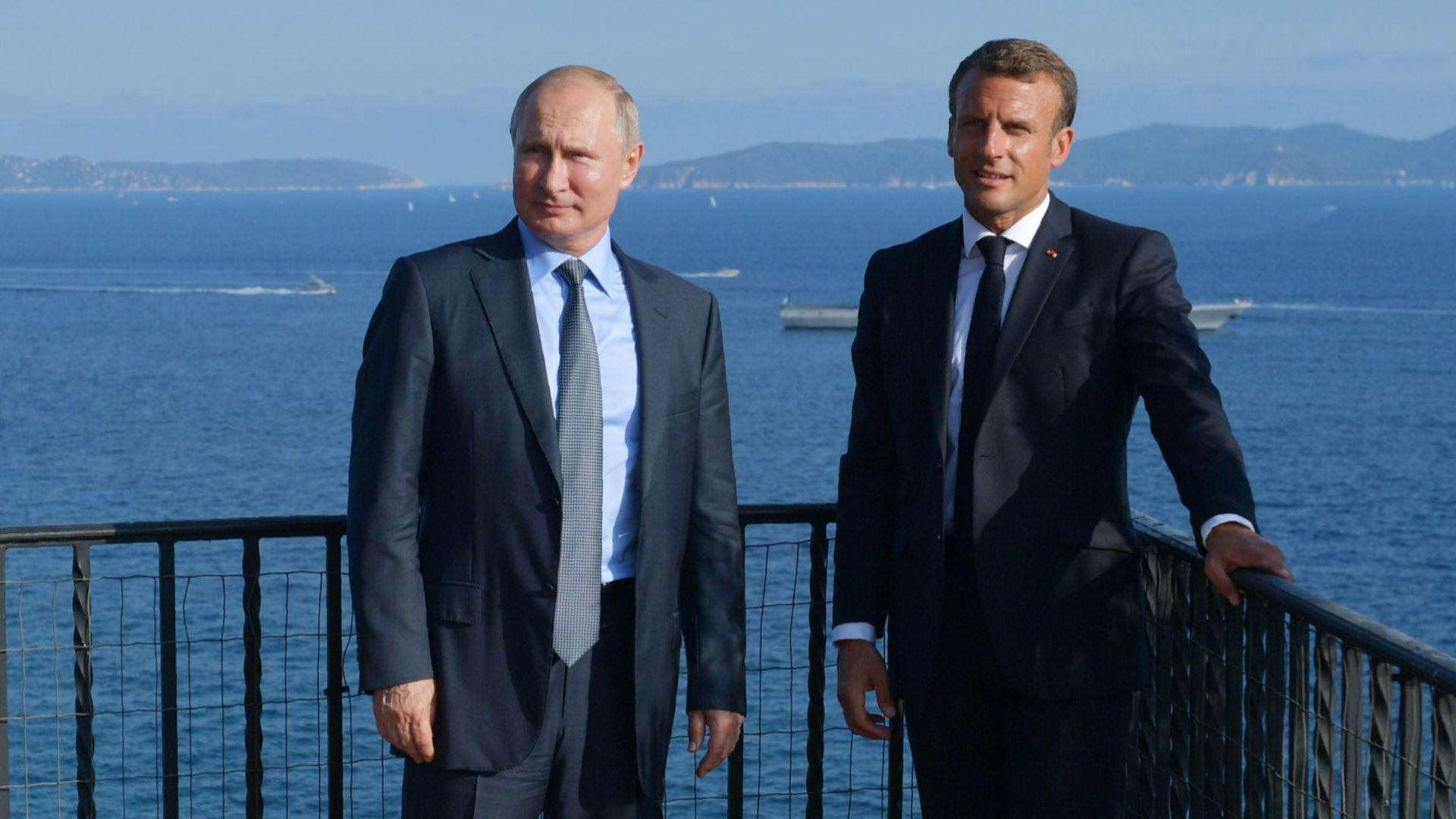 Френският президент Eманюел Макрон заяви днес, че възстановяване на Русия