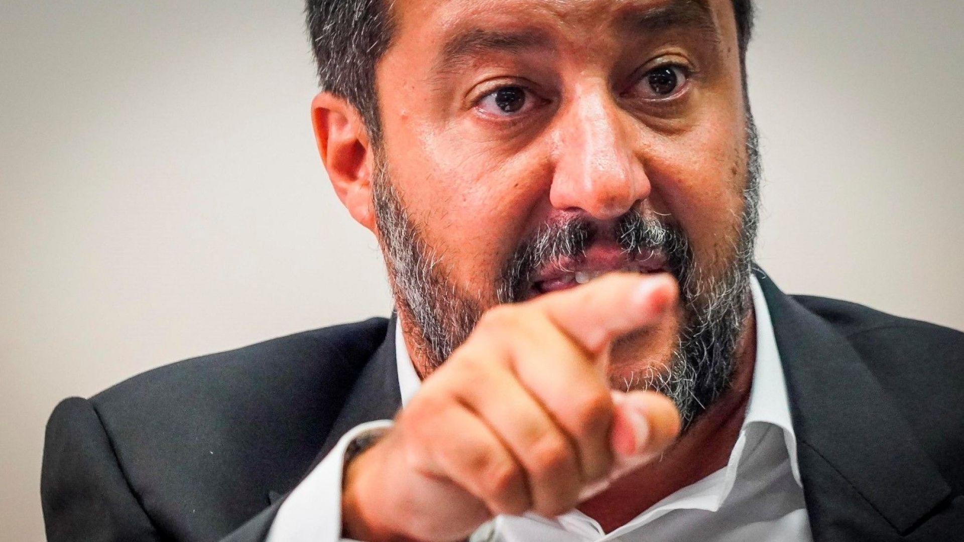 """Италия се нуждае от бюджет на стойност 50 милиарда евро за """"шокови"""" стимули,  заяви Салвини"""