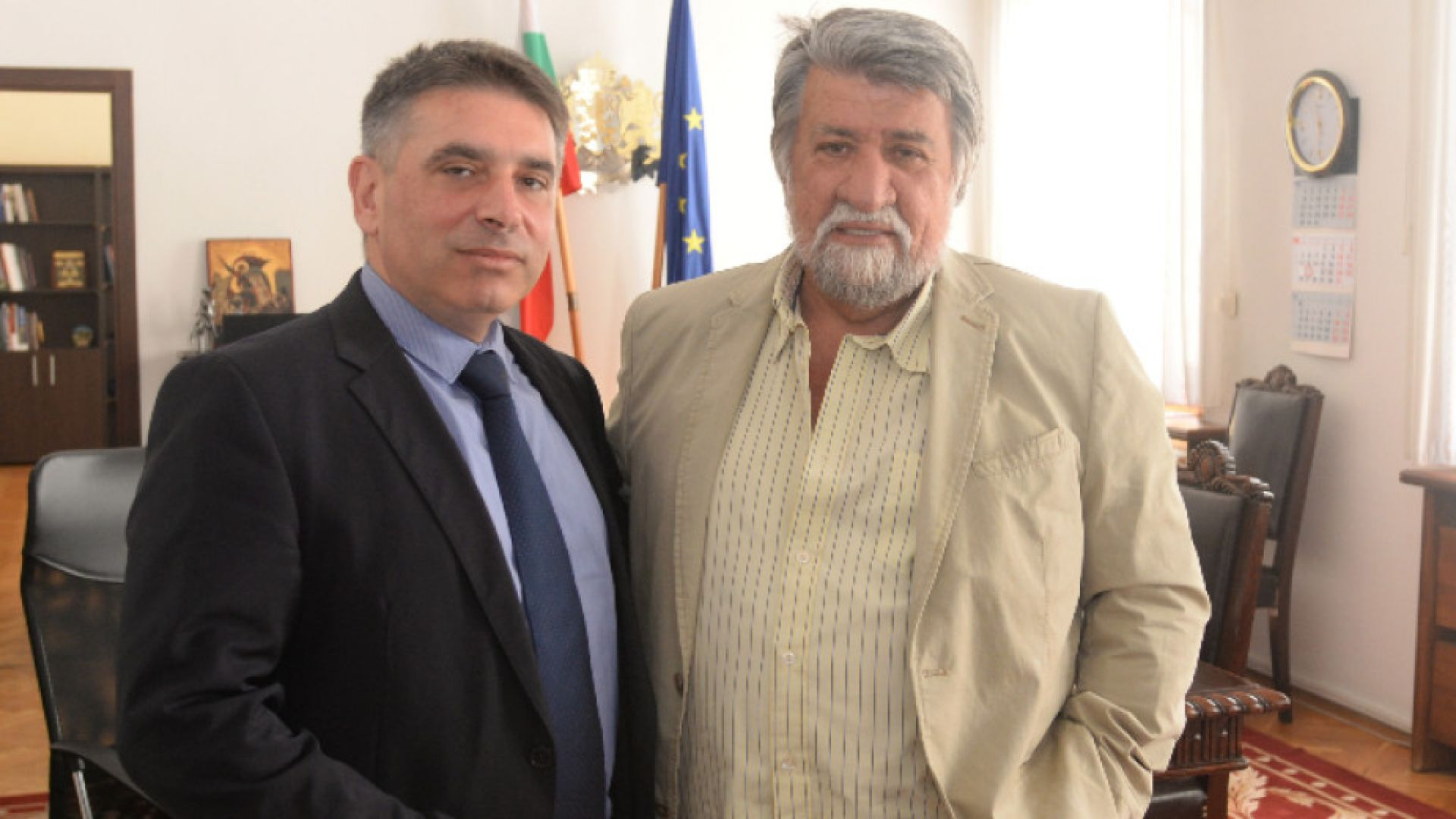 Правосъдният министър Данаил Кирилов и председателят на парламентарната комисия по