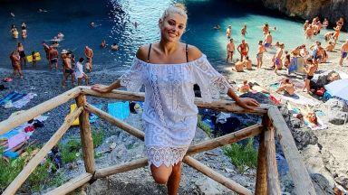 Ева Веселинова в Италия за рождения си ден