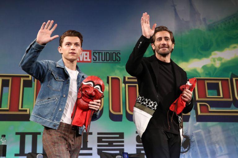 """Том Холанд и Джейк Джиленхол на премиерата на """"Spider-man: Far From Home"""""""