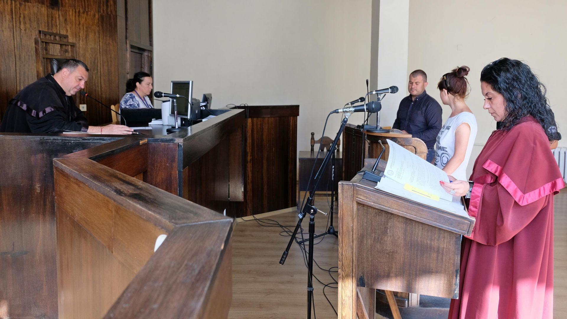 Гергана в съда по време на мярката й за неотклонение