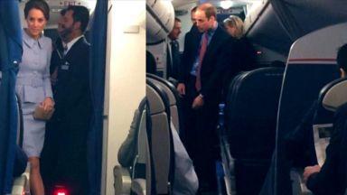 Кейт и Уилям летяха сред обикновените хора в пътнически самолет