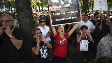 Протестиращи обградиха бразилското посолство в София заради пожарите в Амазония