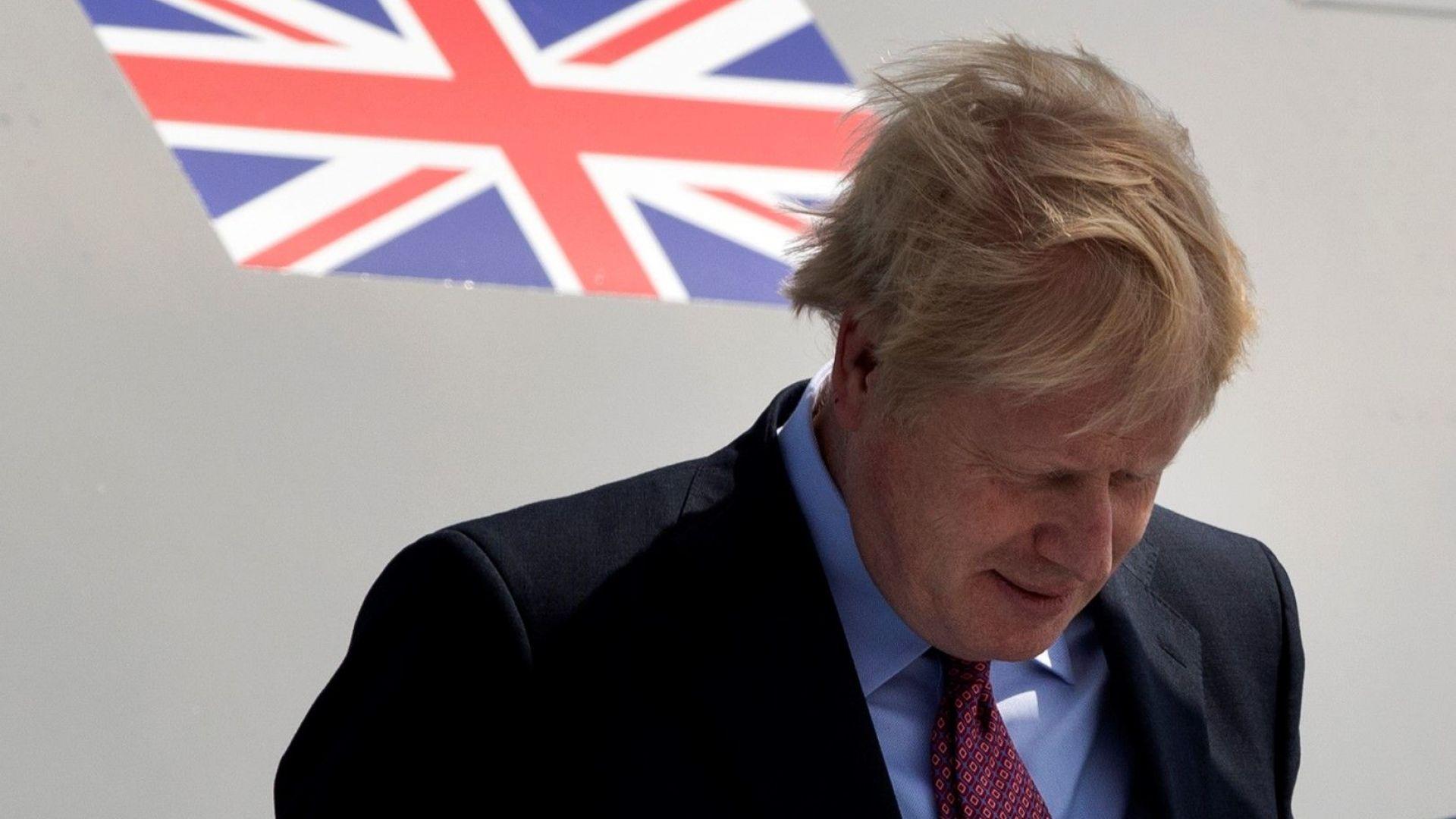 Борис Джонсън на срещата на Г-7