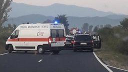 """Катастрофа блокира движението към ГКПП """"Маказа"""""""