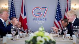 Великобритания подкрепя търговския мир, заяви Борис Джонсън на срещата с Тръмп