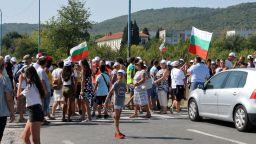 Протест срещу изграждането на център за опасни отпадъци в село Атия