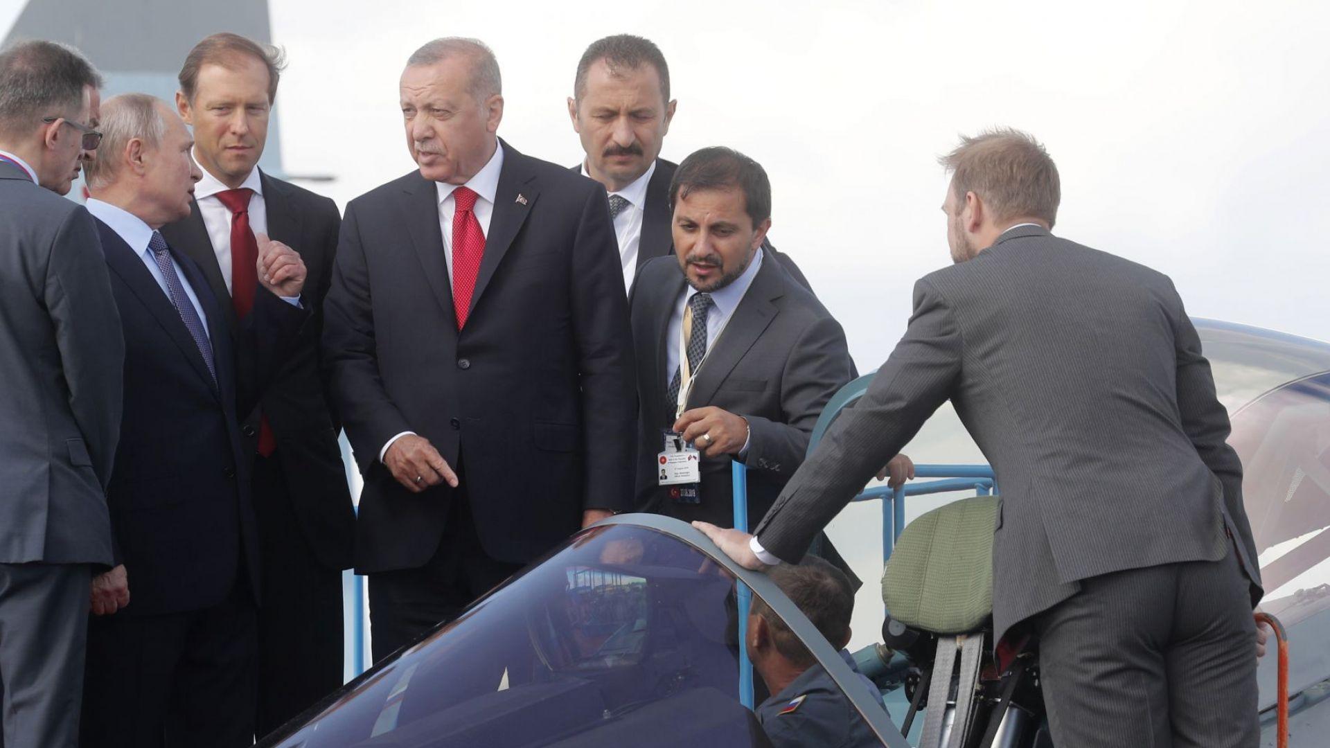Срещата Путин-Ердоган - като няма Ф-35, има Су-57