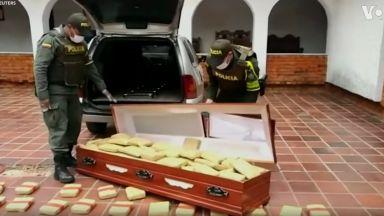 Необичайна находка - полицаи откриха стотици килограми марихуана в ковчег