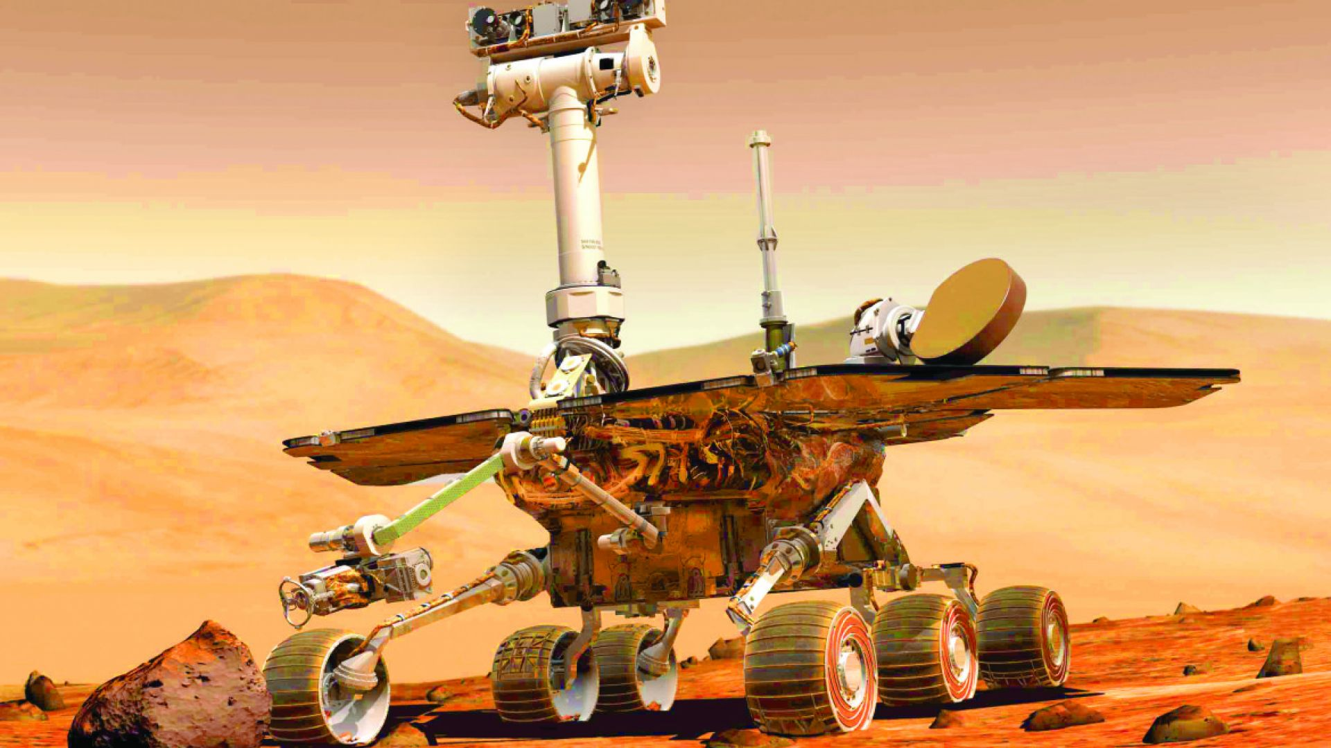 Роувърите на Марс спират да работят за известно време