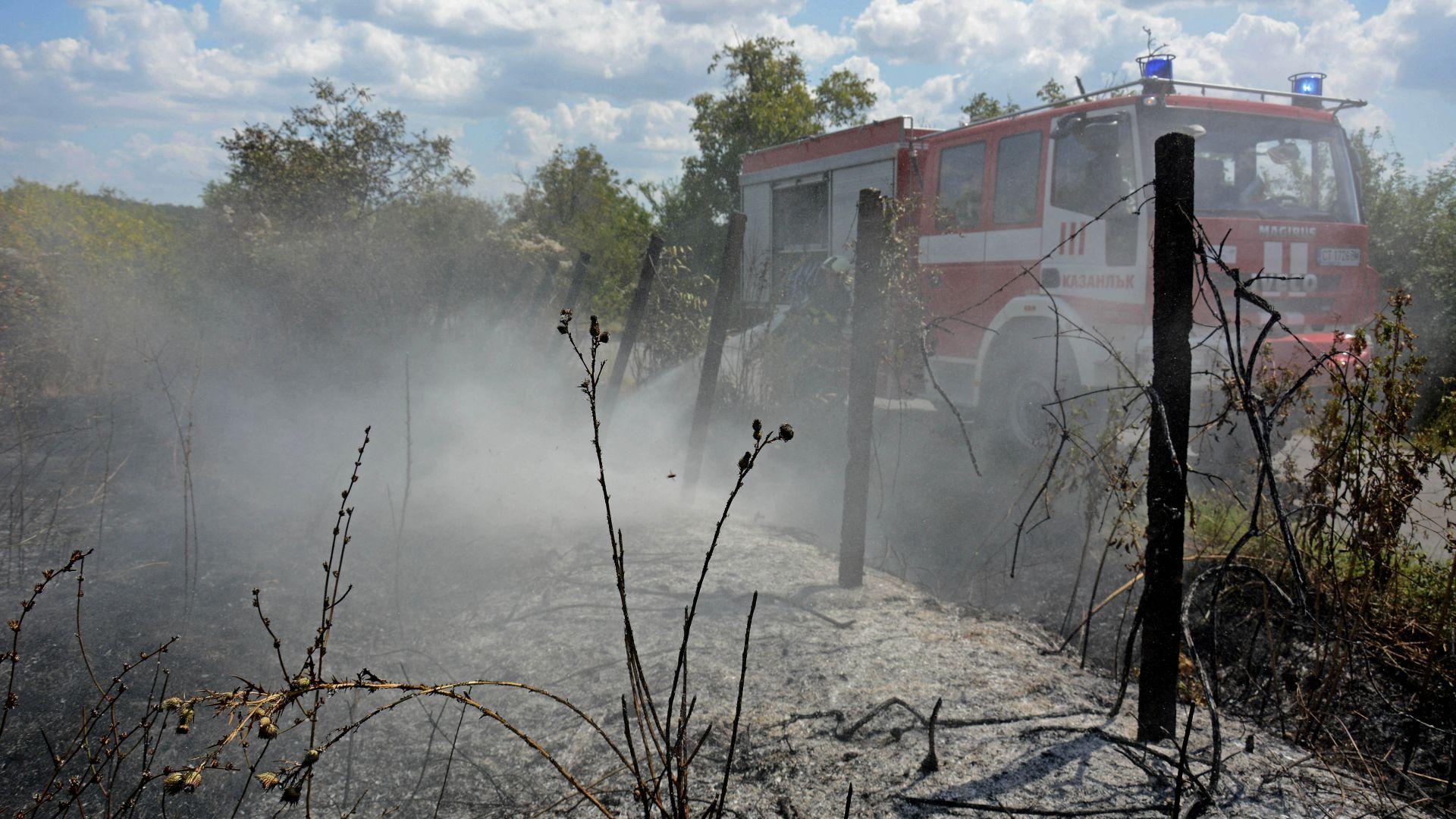 Големият пожар до Нова Загора е овладян. Кметица: Беше страшна безсънна нощ