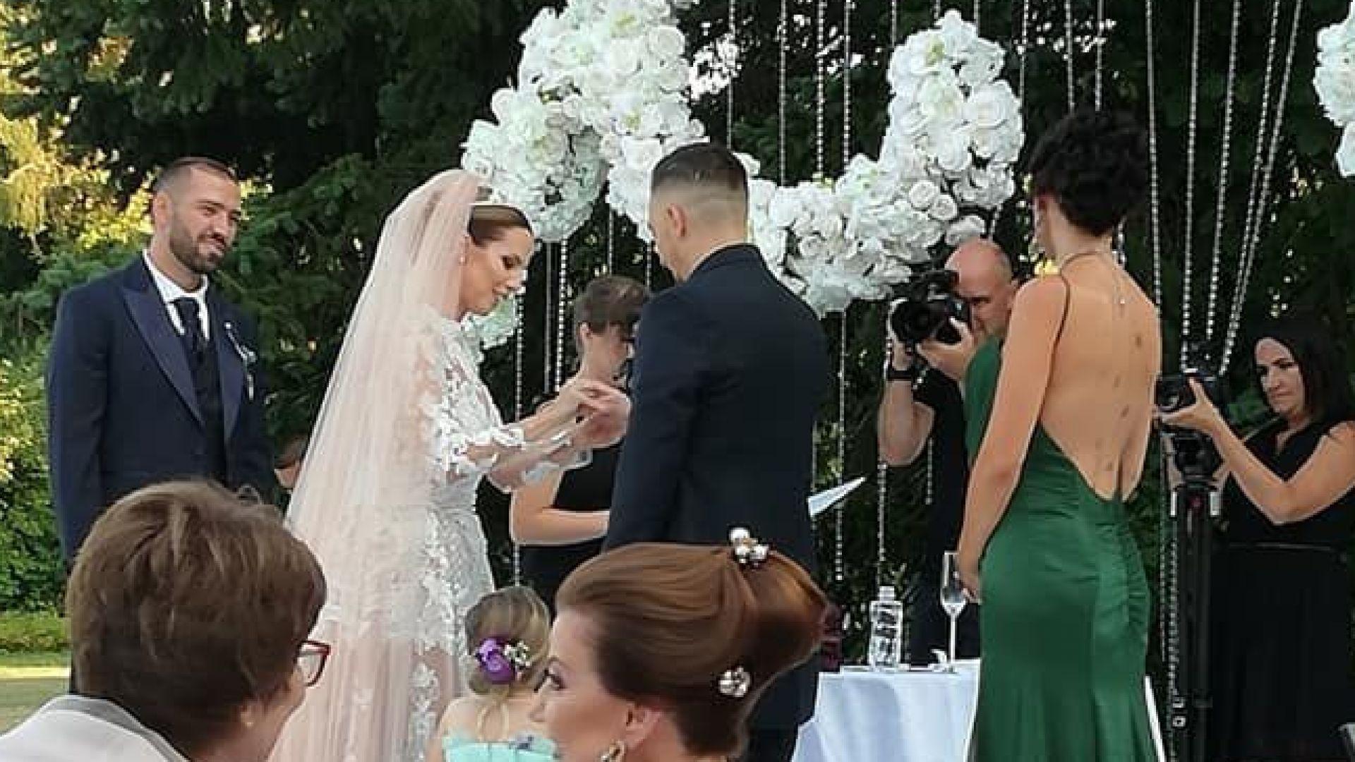 Виолета Сиракова се омъжи за любимия си Георги (видео)