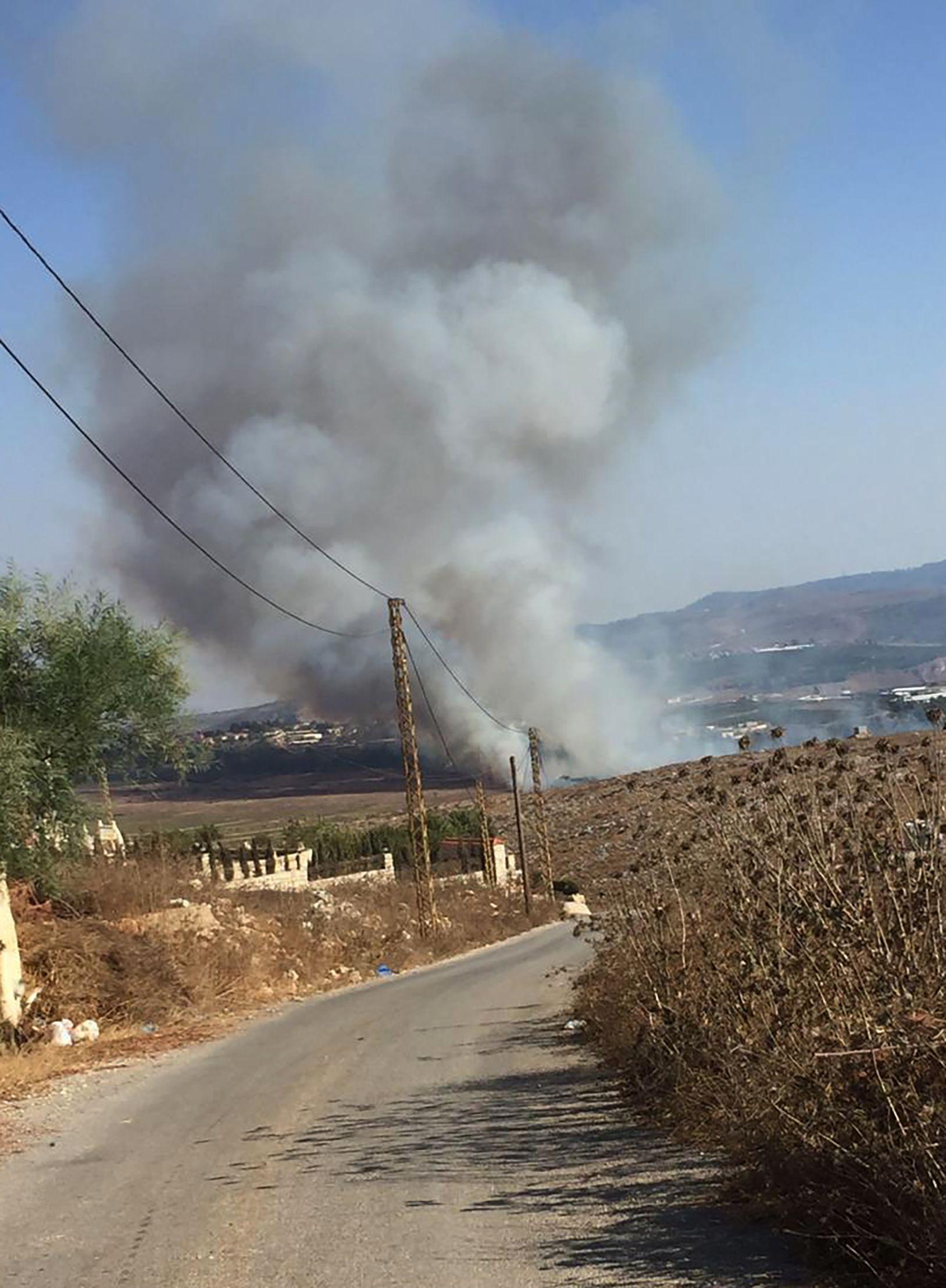 Израелска ракета, паднала в ливанско погранично село