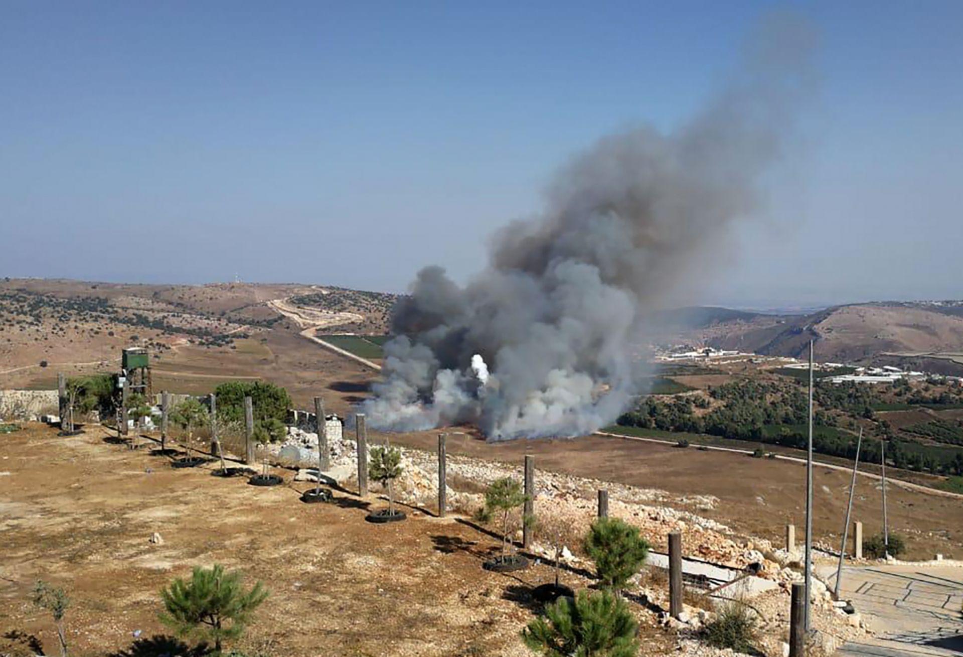 Изграелска ракета, паднала в ливанско село